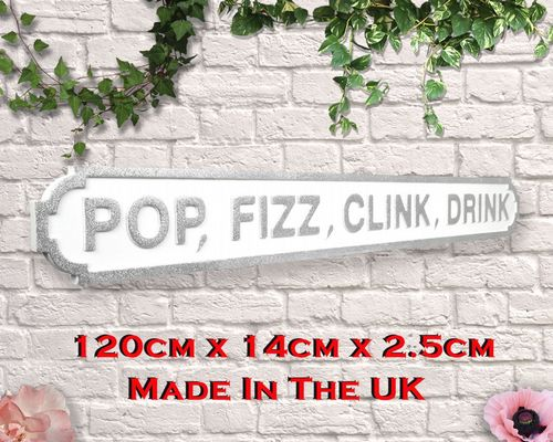 Pop Fizz Clink Drink Silver Glitter